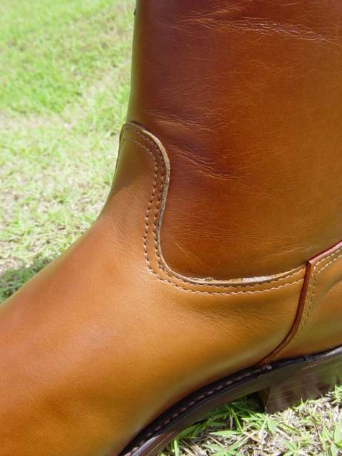English Polo Boot - Light Tan Oiled Leather