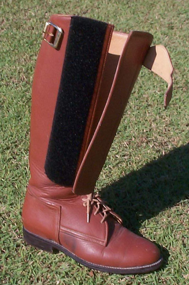 German Polo Boot with Lace & Velcro - Light Tan Oiled Leather
