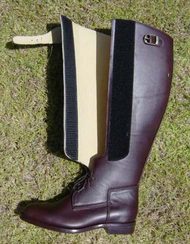 German Polo Boot has Velcro and Lace closures